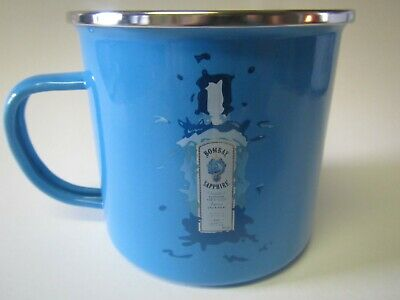 Bombay Sapphire London Dry Gin Promo Advertising Tin Metal Campfire Mule Mug Cup • 11.40£