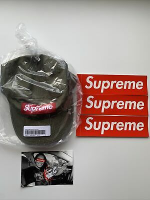$ CDN83.35 • Buy SUPREME HONEYCOMB RIPSTOP CAMP CAP OLIVE AUTHENTIC NEW+ One Box  Logo Sticker