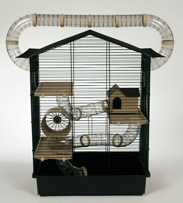 £58.95 • Buy Large Hamster Cage With Many Tubes House Wheel 100ml Bottle Mouse Gerbil Rodents