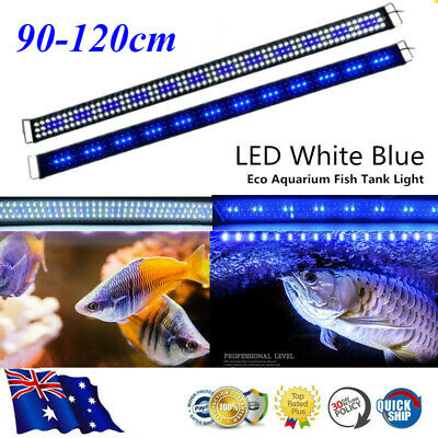 AU46.98 • Buy 120CM Aquarium LED Lighting 4ft Marine Fresh Fish Tank Light Blue White Light Vc