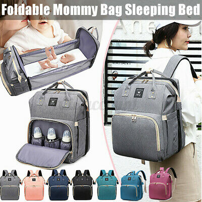 AU39.99 • Buy 3 IN 1 Large Foldable Mummy Bag Baby Bed Backpack Maternity Nappy Diaper Crib