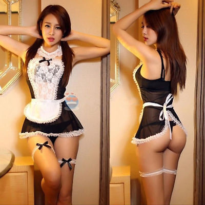 £7.49 • Buy Hot Women French Maid Uniform Fancy Dress Costume Hen Party Ladies Outfit