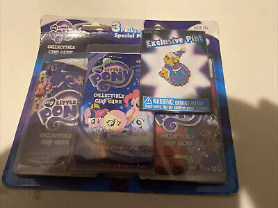 My Little Pony Collectible Card Game 2015 With Exclusive My Little Pony Pin 3 Pk • 14.08£