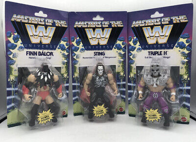 $129.89 • Buy 🎅🏻NEW! LOT Wave 1 Masters Of The WWE Universe Triple H Finn Balor Sting + FS!