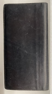 $84.95 • Buy Vintage Gucci Black Leather Bifold/Long Wallet/Checkbook Cover