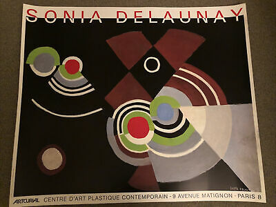 Vintage Original Sonia Delaunay French Museum  Poster  • 36.68£
