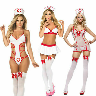 £7.99 • Buy Womens Sexy Naughty Nurse Costume Lingerie Hen Fancy Dress Party Outfit UK
