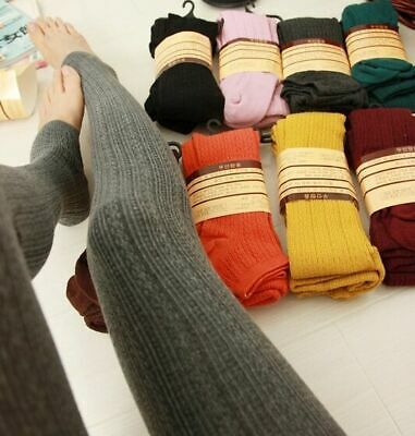 £7.55 • Buy WOMENS Warm WINTER KNITTED Slim THERMAL WARM THICK FULL LENGTH LEGGINGS COLOURS