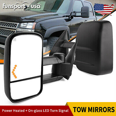$106.44 • Buy Passenger Driver Side Tow Mirrors For 03-06 Chevy Silverado 1500 2500 3500 HD