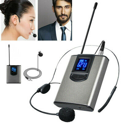 Wireless UHF Lavalier Lapel Headset Microphone MIC System Receiver Transmitter • 20.49£