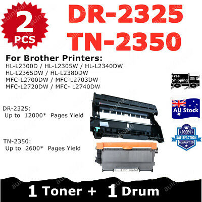 AU32.90 • Buy Combo Compatible Toner 1x TN-2350 + 1x Drum DR-2325 For Brother HLL2300D L2305W