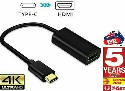 AU9.20 • Buy 4K Type C To HDMI Adapter 30Hz USB C 3.1 Male To HDMI Female Cable