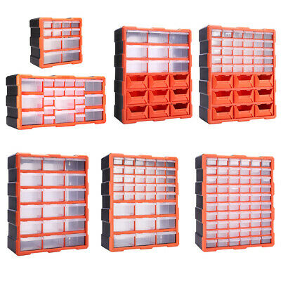 Tool Box Nails Screws Organiser 12/18/22/39/60 Compartment Storage Cabinet NEW • 38.95£