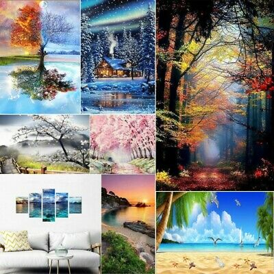 AU12.99 • Buy Full Drill 5D DIY Diamond Painting Landscape Cross Stitch Kits Embroidery Gifts
