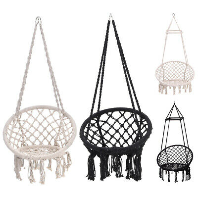 Indoor Hanging Hammock Rope Swing Chair Macrame Hammock Seat/Stand Garden Patio • 159.59£