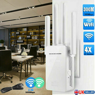 2021 Wifi Signal Range Booster Repeater Wireless Router Network Extender 300M UK • 12.40£