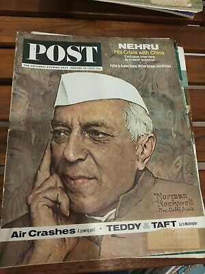 $ CDN12.50 • Buy Saturday Evening Post Magazine January 19 1963 Norman Rockwell Cover Free Shippi