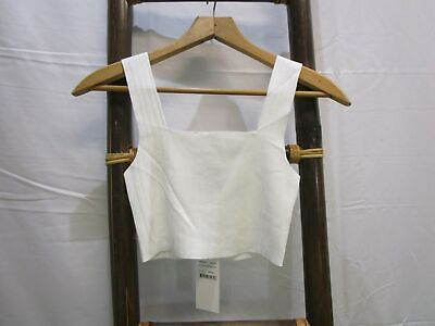 AU10 • Buy New Alice In The Eve Crop Knit White Top Womens RRP$39.95