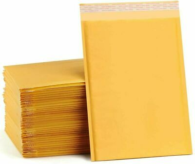 $12.99 • Buy Any Size Kraft Bubble Mailers Shipping Mailing Padded Bags Envelopes Self-Seal