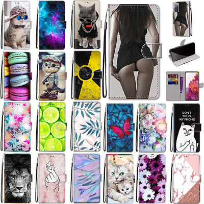 AU12.99 • Buy For Samsung S20 FE Ultra S10 S9 Plus Patterned Case Card Wallet Leather Cover