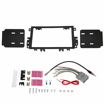 $12 • Buy BLACK DOUBLE 2 DIN STEREO RADIO DASH KIT W/ WIRING HARNESS Fits BUICK CHEVY GMC