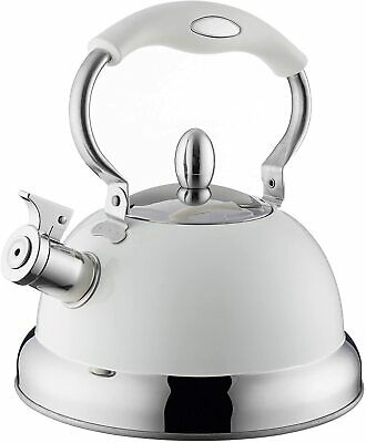 Typhoon Retro Whistling Kettle Pastel Colours Cream Induction Stove Top • 18.99£