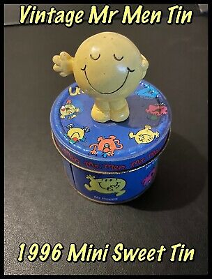 Vintage 1996 Mr Men Sweet Tin With Mr Happy Figure Attached (Supplied Empty)  • 7.99£