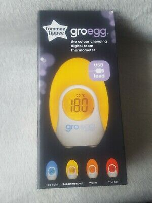 Tommee Tippee Gro Egg Room Thermometer Baby Kids Grow Digital Portable Travel • 19.99£