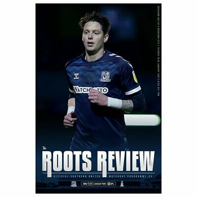 Southend United V Bradford 2020/21 ~ League 2 Programme 26/1/2021 ~ Pre Order • 4.49£