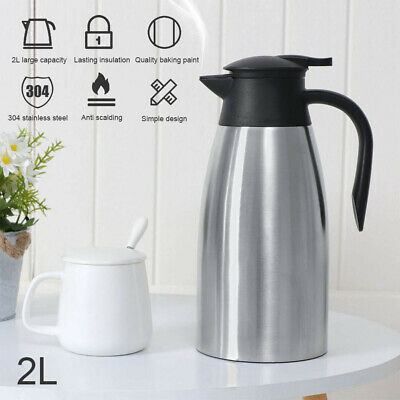 AU21.99 • Buy 2L Stainless Steel Thermos Travel Mug Flask Thermal Hot Water Insulated Bottle