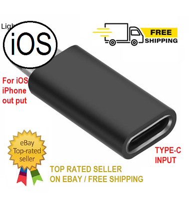 AU7.68 • Buy IPhone Lighting Male To Type C Female USB C IPhone OTG Adapter