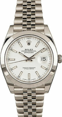 $ CDN11071.85 • Buy Rolex Datejust 126300 White Dial Jubilee Men's Watch 41mm 2020 With Box&Paper