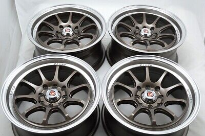 $479 • Buy 4 New DDR Roar 15x7 4x100/114.3 30mm Bronze/Machined Lip 15  Wheels Rims
