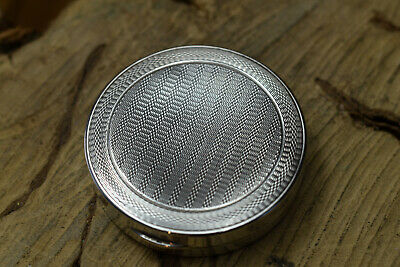 Sterling Silver Engine Turned Mirrored Compact Birmingham 1928 • 44.99£