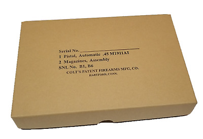 $37.99 • Buy Colt 1911 Box - USGI Military Style Shipping Box For Post-1926 1911A1