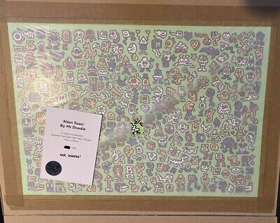 $3499.99 • Buy Mr Doodle - Alien Town - Signed Numbered Screen Print Ed Of 300