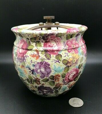 $ CDN104.93 • Buy Antique Grimwades Royal Winton Ware TEA ROSES Chintz Humidor / Tobacco Jar