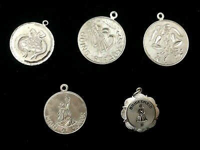 $44.99 • Buy Vintage Sterling Silver Wedding Going Steady Maid Of Honor Charm Lot 5 Charms