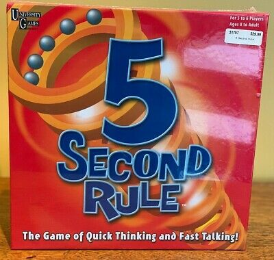 AU20 • Buy 5 Second Rule Board Game