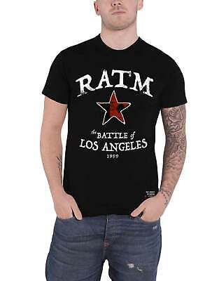 Rage Against The Machine T Shirt Battle Star Band Logo New Official Mens Black • 15.95£