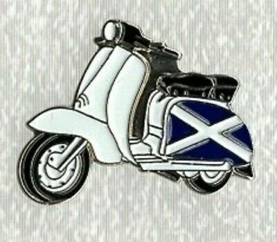Lambretta Scooter Pin Badge. Scotland St Andrew. Metal. Enamel. Mods Scooterist  • 1.50£