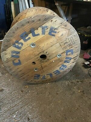 Large Wooden Cable Drum Reel • 40£