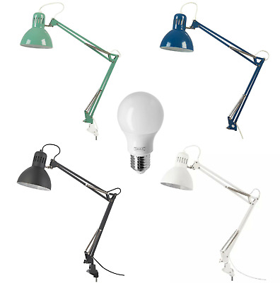 NEW IKEA TERTIAL Work Lamp Adjustable Arm Table Lighter Desk Study With Bulb. • 19.99£