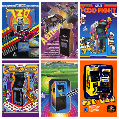 £4.99 • Buy ARCADE GAME POSTERS V2 A4 Vintage Retro Game Reproduction Flyers Decor Gaming
