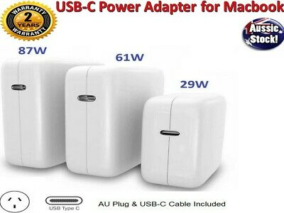 AU15.98 • Buy 30W 61W 87W USB-C Power Adapter Charger Type-C For Apple Macbook Air Pro Laptop