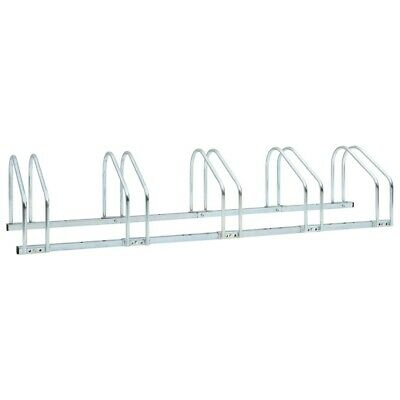 AU66.99 • Buy 5-Bike Parking Floor Rack 136x33x27 Cm Steel
