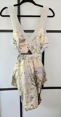 AU30 • Buy Alice McCall Linen Dress - Multicoloured Pattern - VG / Exc Cond - Size AU 12