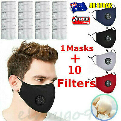AU12.80 • Buy Washable Reusable PM2.5 Anti Air Pollution Face Mask Respirator Mask With Filter