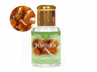 £6.50 • Buy Amber Attar - Pure, Natural & Undiluted Non-Alcohol For Unisex