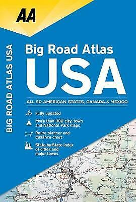 Aa Big Road Atlas USA, Paperback By Aa Publishing, Like New Used, Free P&P In... • 10.92£